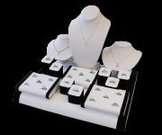 We have many diamond jewelry pieces on display